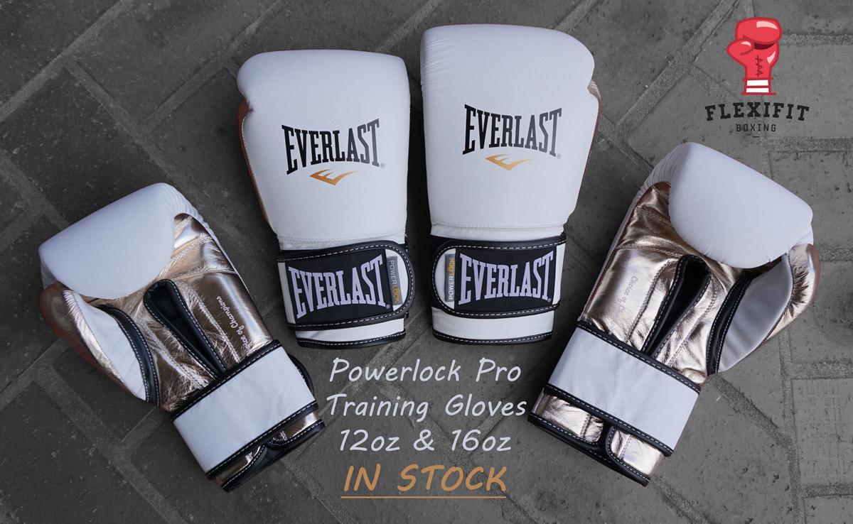 Powerlock Pro White Boxing Gloves